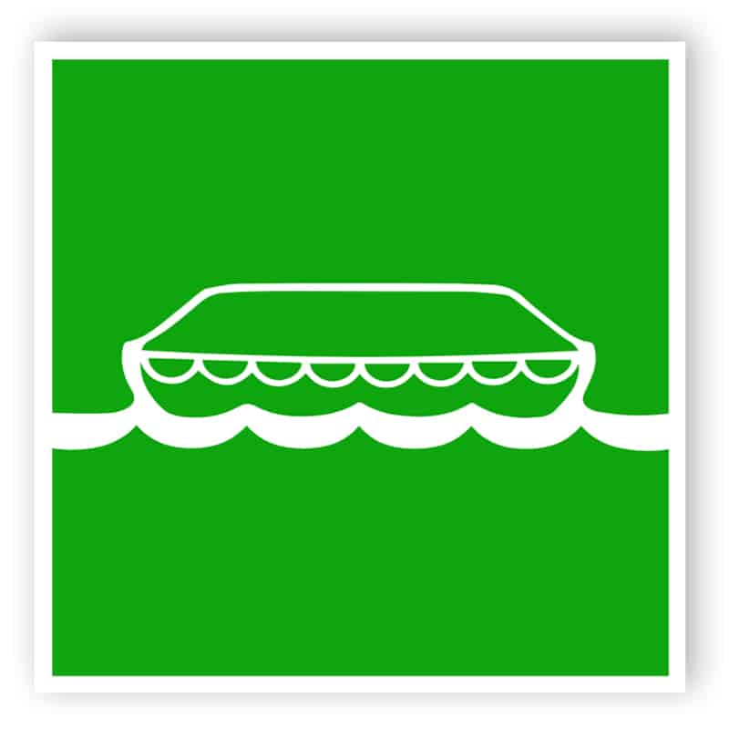 Lifeboat - safe condition signs - marine