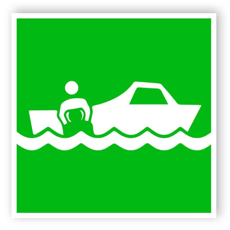 Rescue boat - marine sign