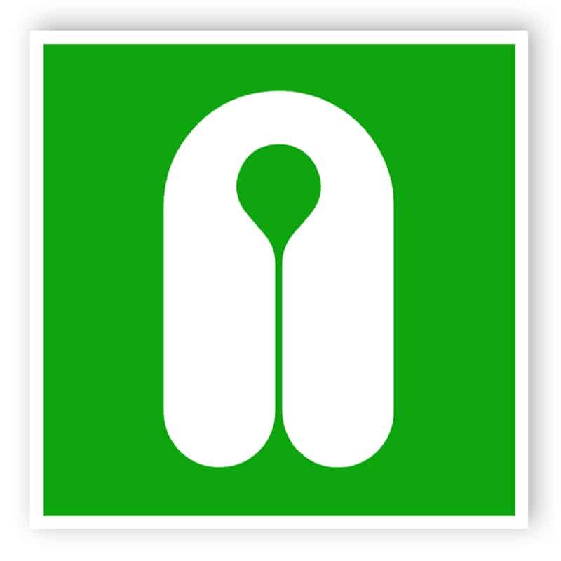 Lifejacket sign