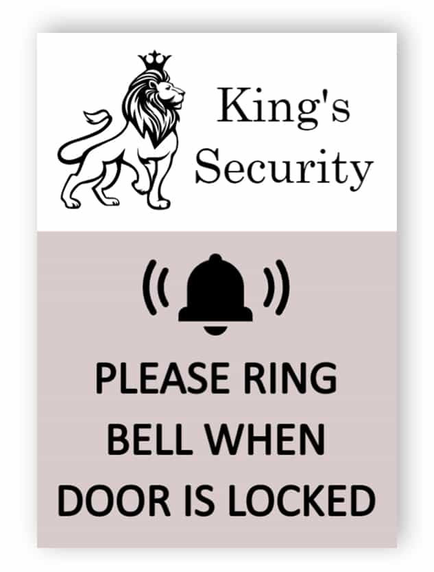Custom ring bell sign for company