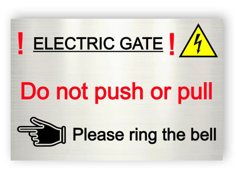 Electric gate - ring the bell