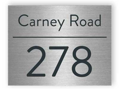 Street sign - Stainless steel