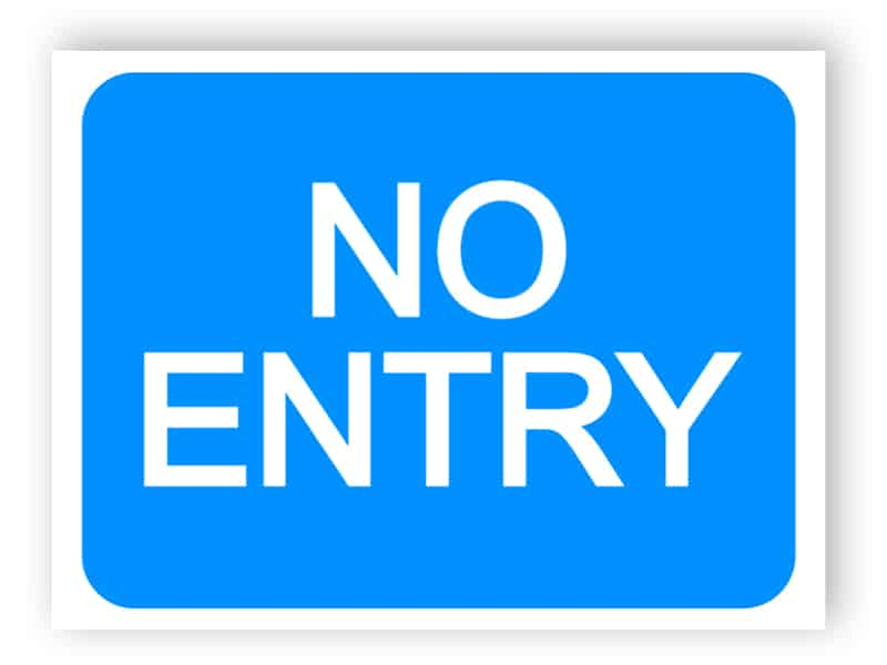 Entry to a car park not allowed sign