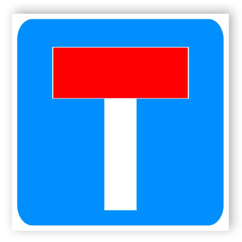 No through road for vehicular traffic sign