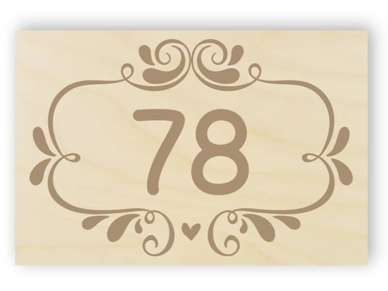 Wooden door number