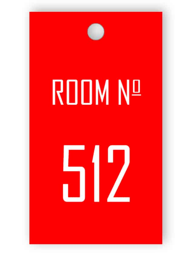 Red room key tag
