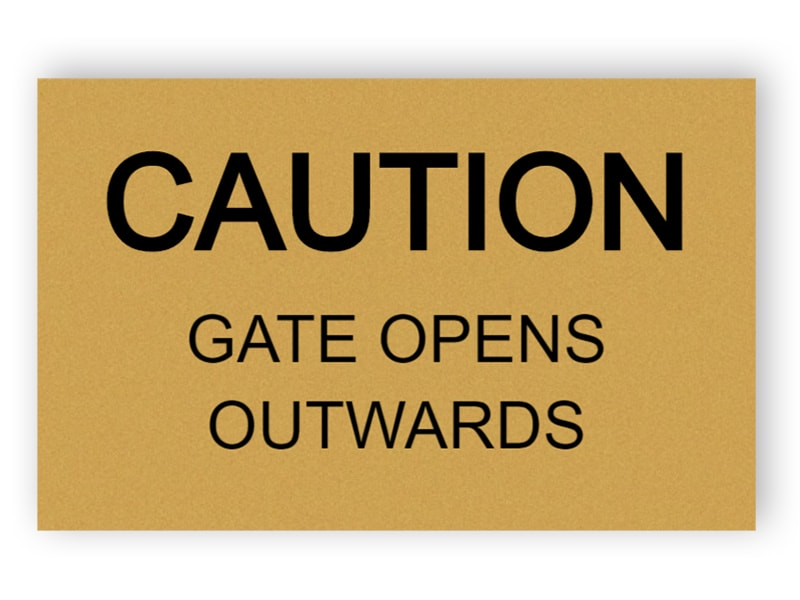Gate opens outwards