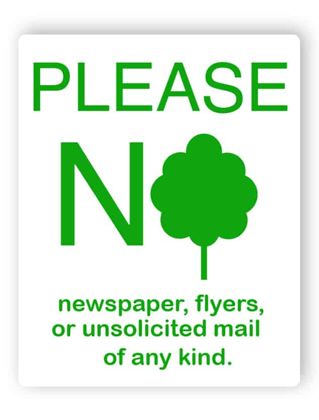 No junk mail sign 1