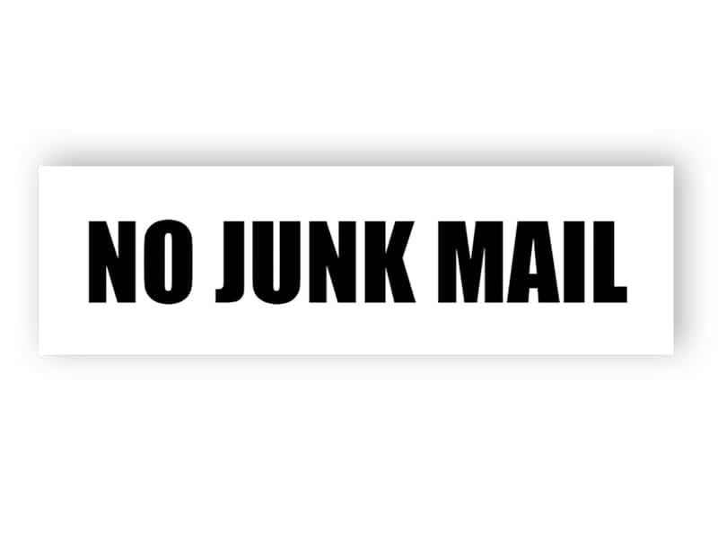 No junk mail sign 2