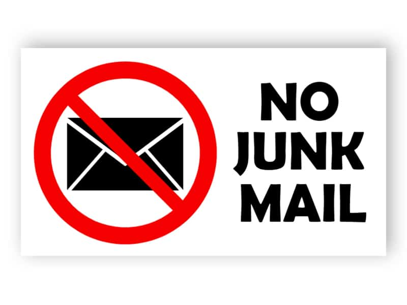 No junk mail sign 3
