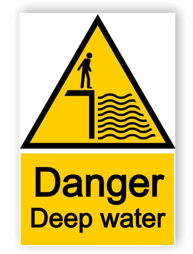 Danger - deep water