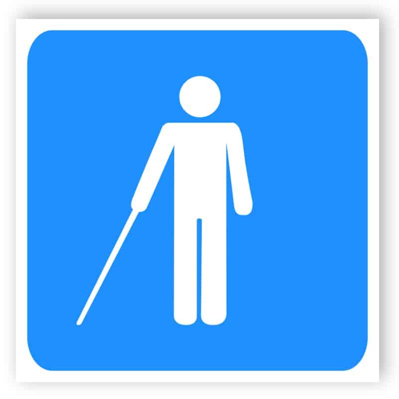 Disabled sign - Blind