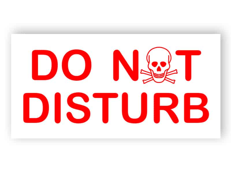 Please do not disturb - Red sign