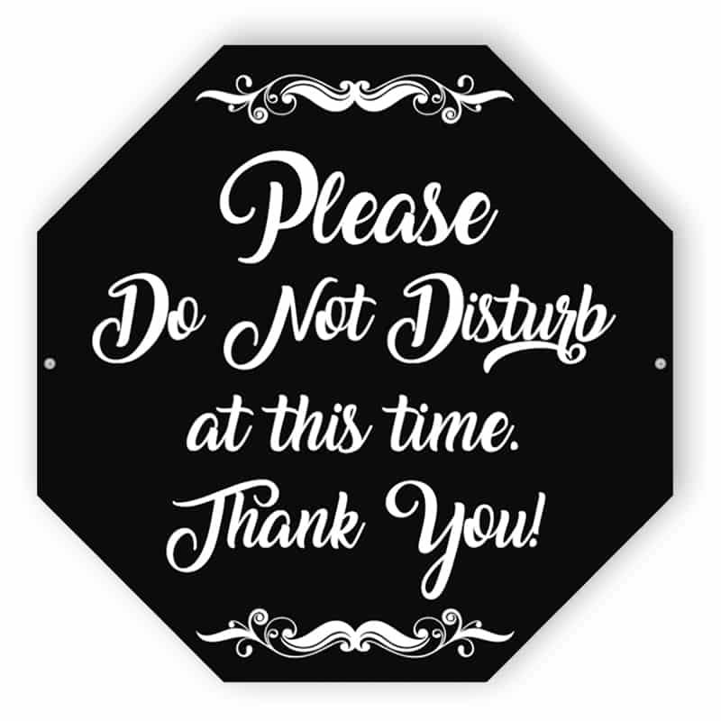 Black do not disturb sign