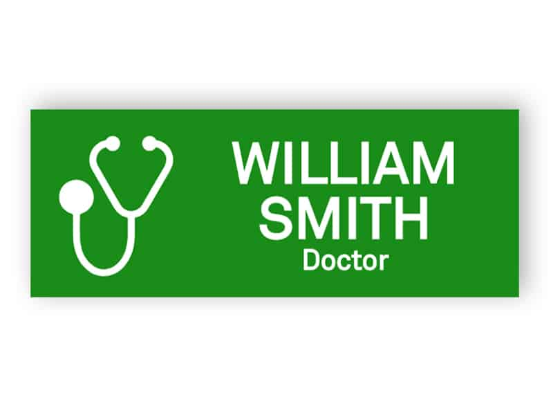 Green Name Badge for Doctor