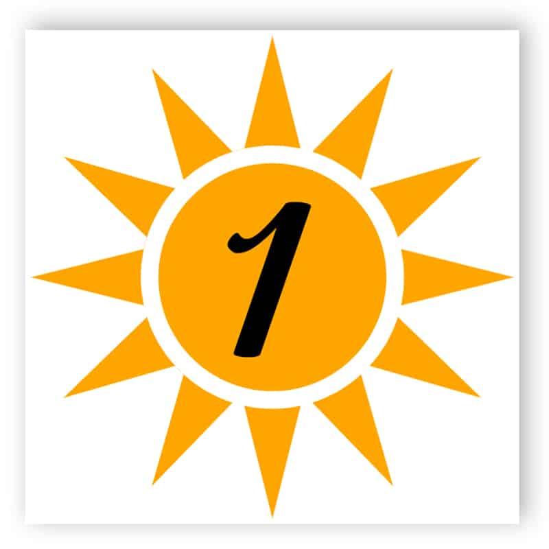 Sun house door number