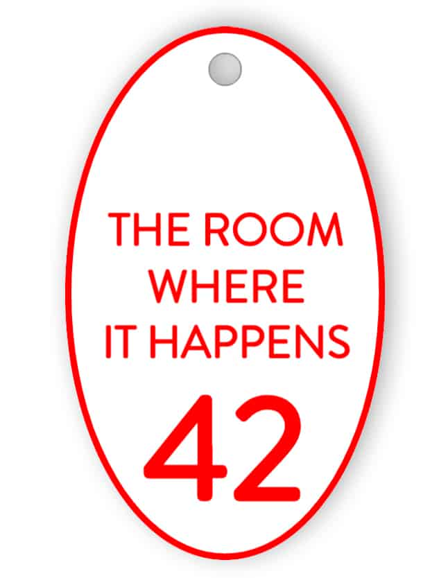 Room key tag - The room where it happens