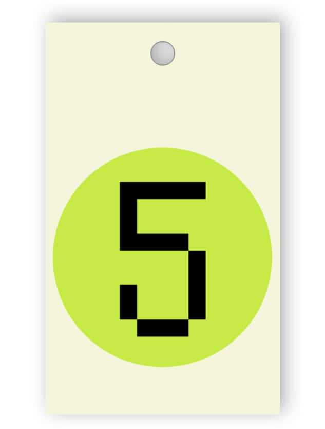 Beige room key tag
