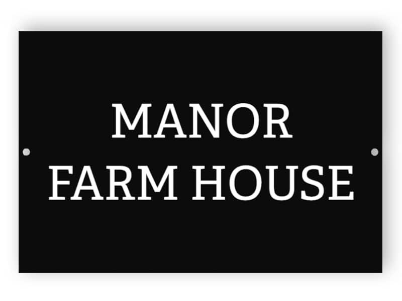 Black house name sign