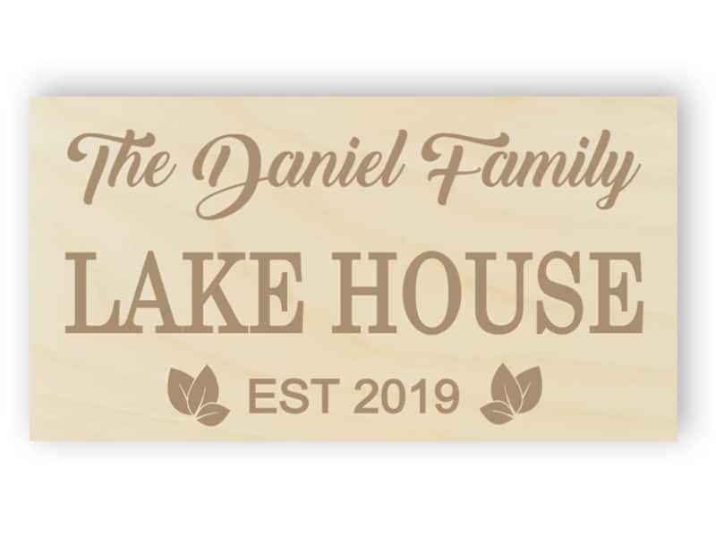 Wooden custom house sign