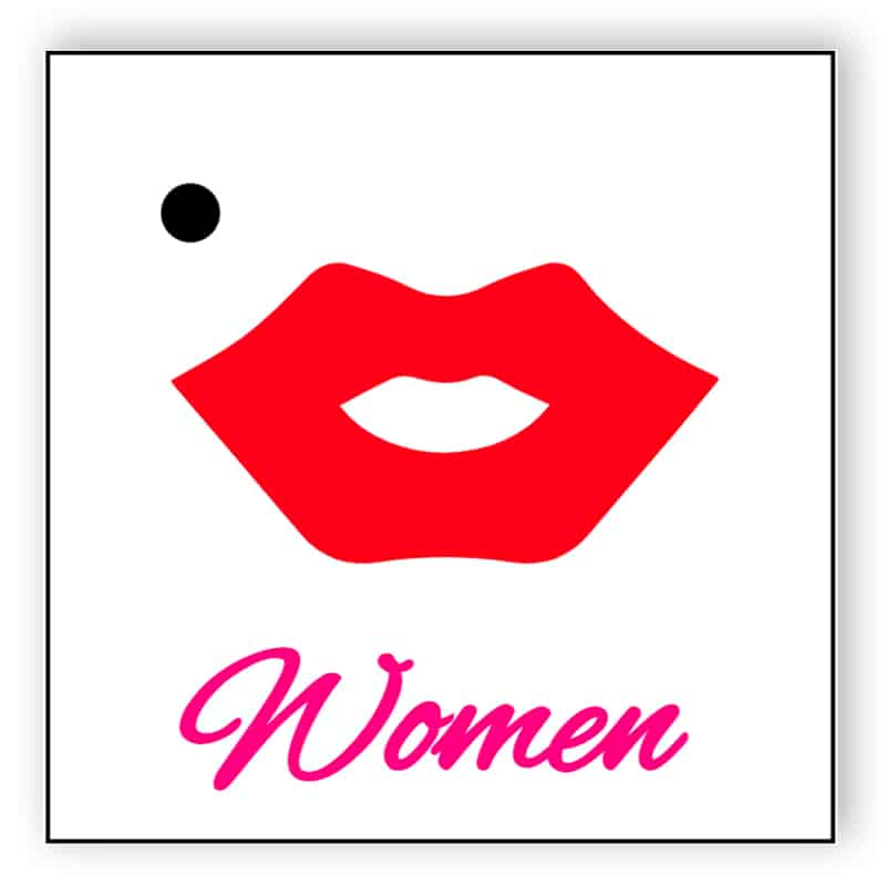 Lips - toilet sign