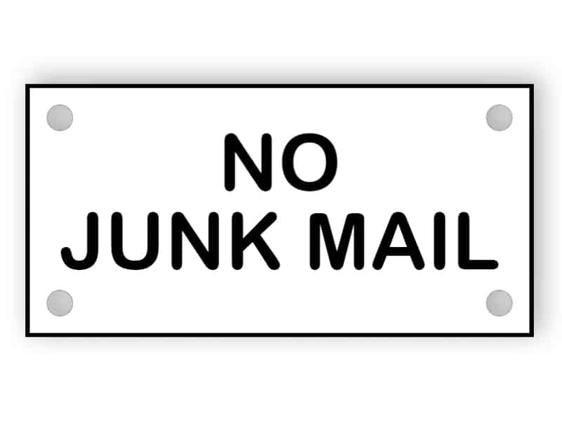 No junk mail sign 4