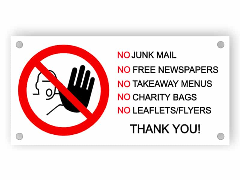 No junk mail sign 5