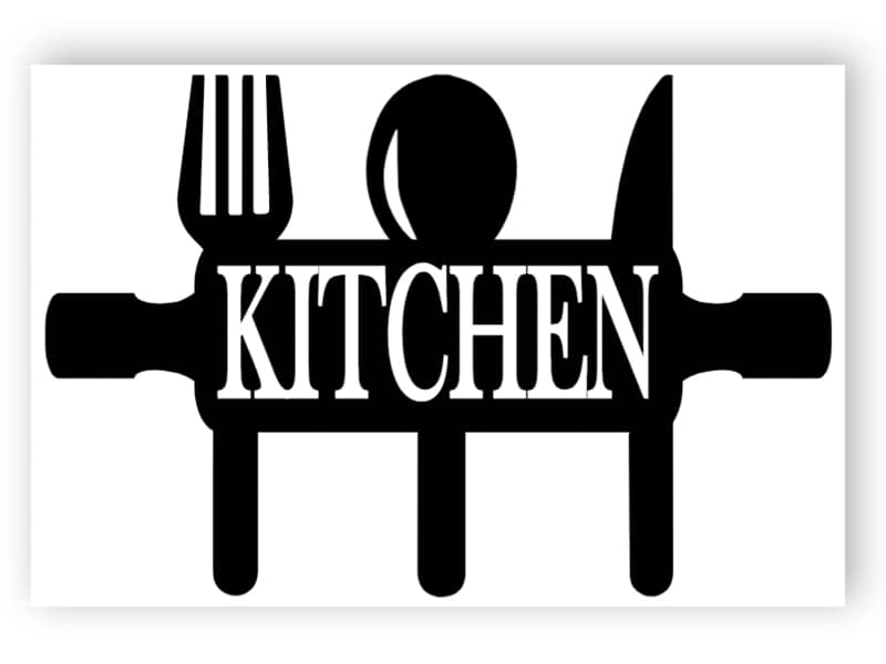 Black and white kitchen sign 1