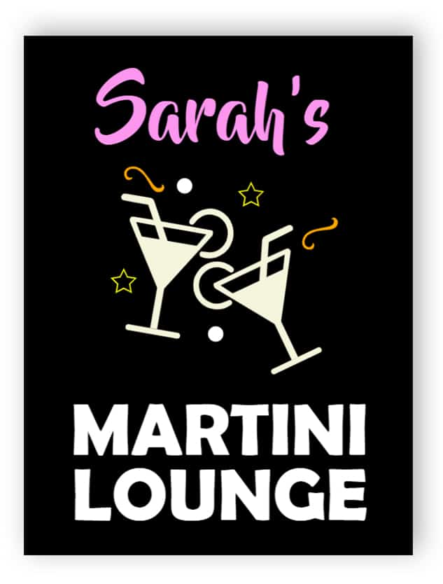 Martini lounge sign