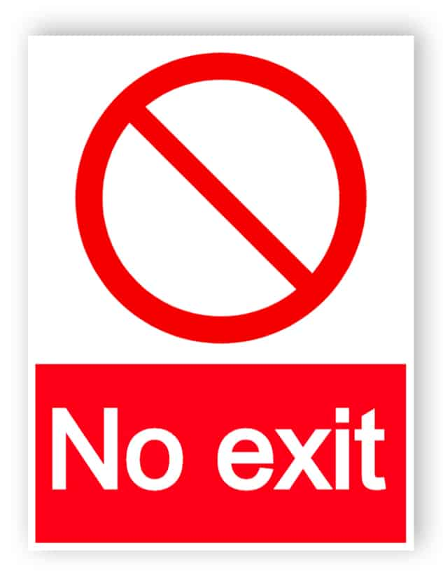 No exit - portrait sign
