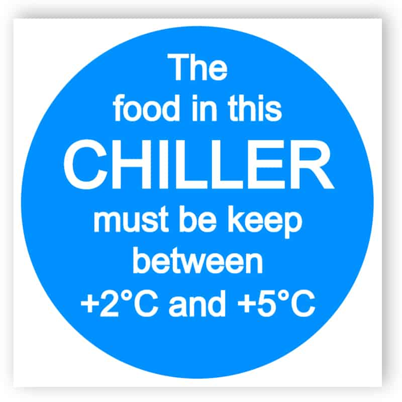 Food refrigeration sign