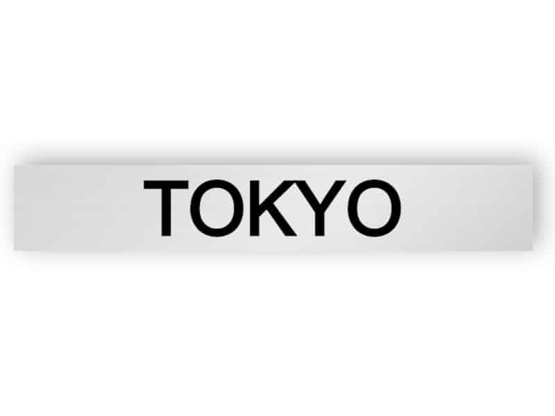 Tokyo - silver sign