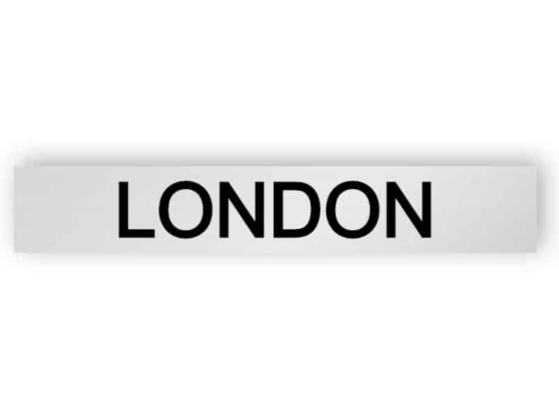 London - silver sign