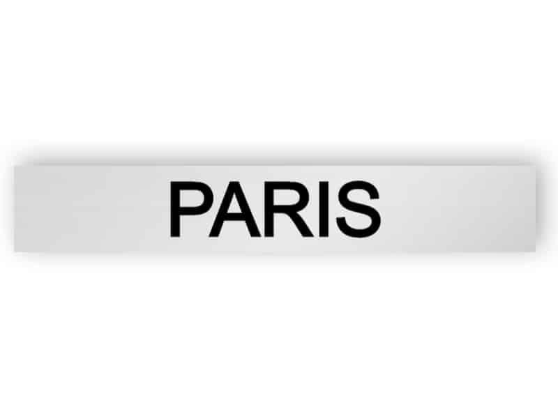 Paris - silver sign