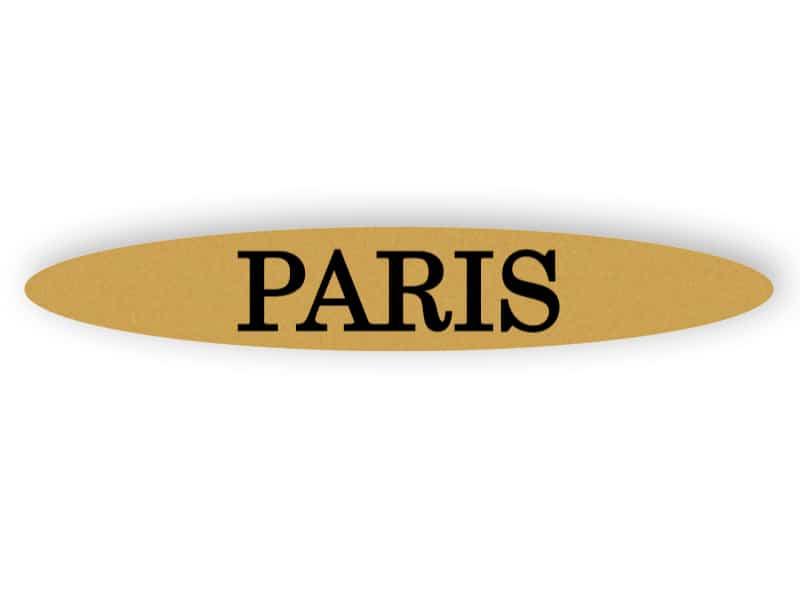 Paris - gold sign