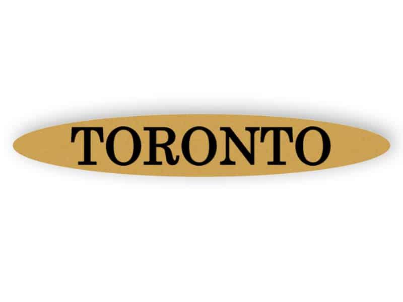 Toronto - gold sign