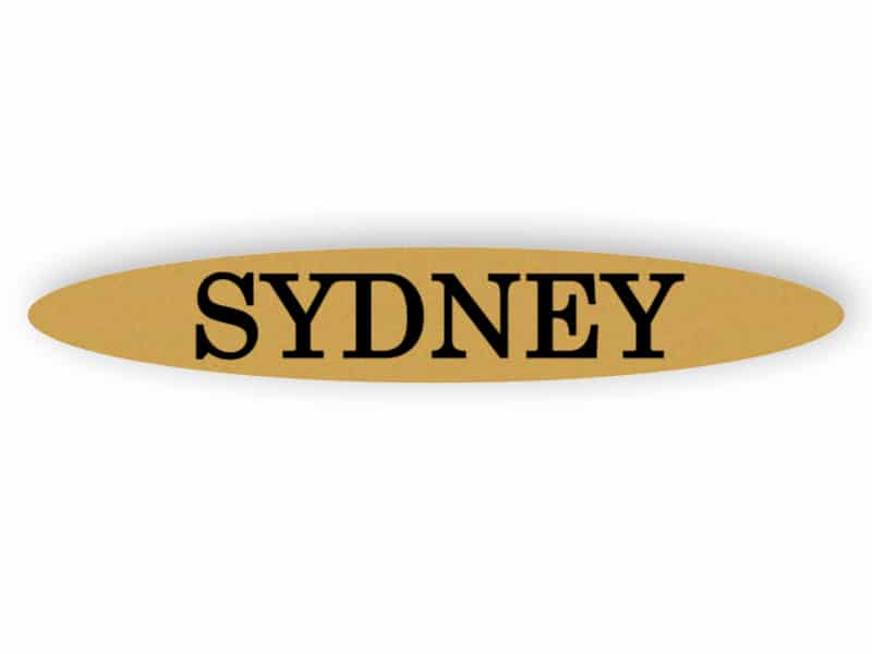 Sydney - gold sign
