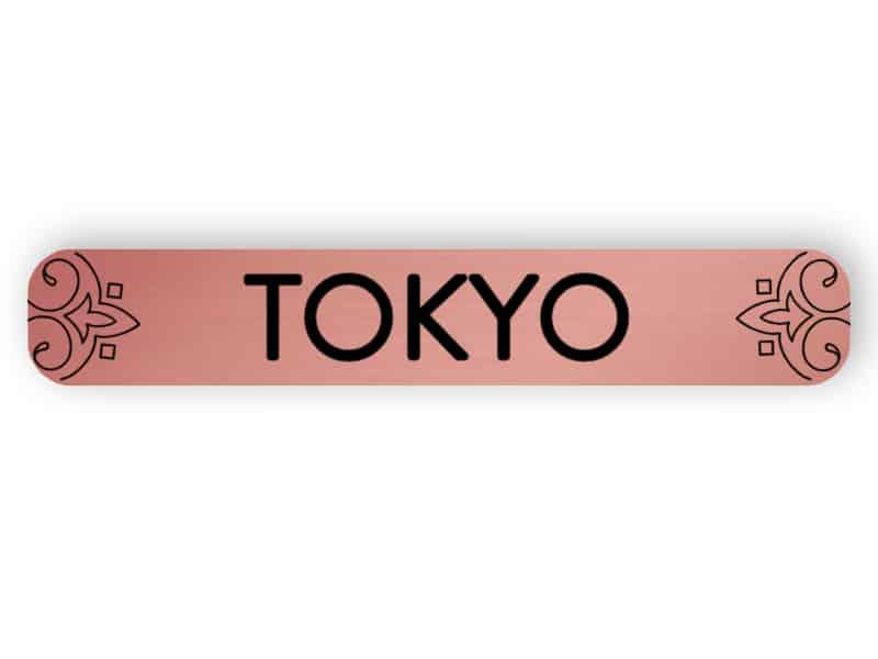 Tokyo - rose gold sign
