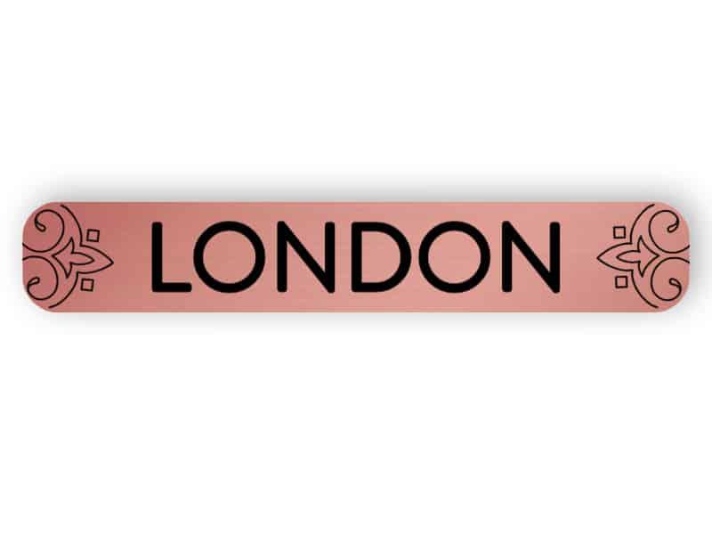 London - rose gold sign
