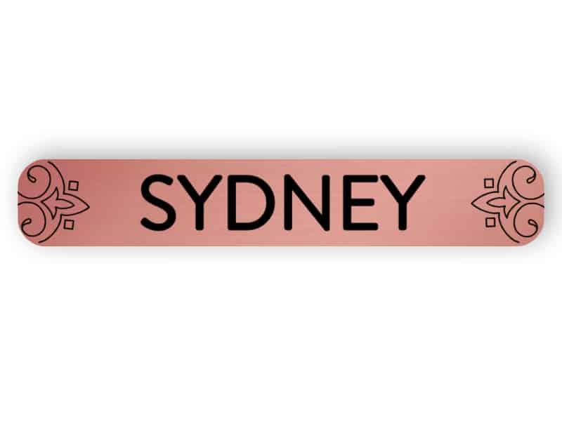 Sydney - rose gold sign