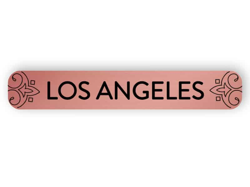 Los Angeles - rose gold sign