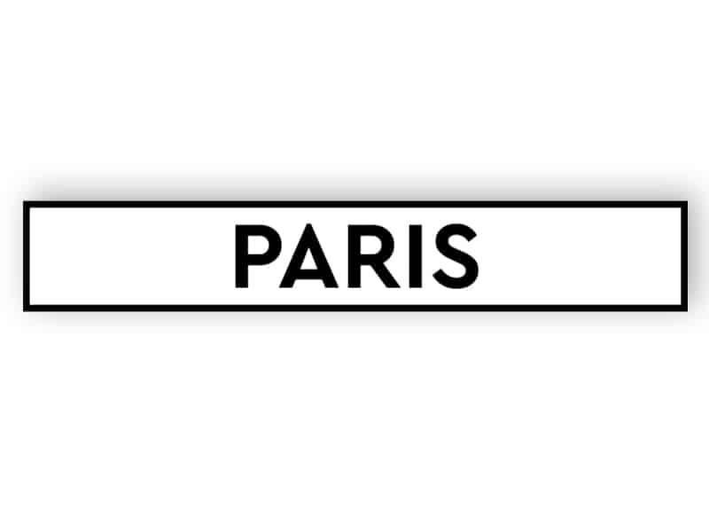 Paris - white sign