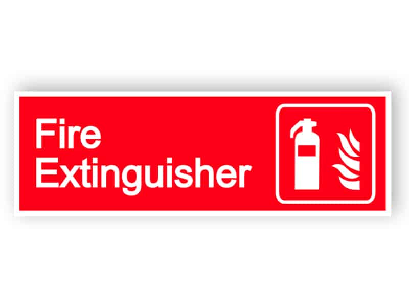 Fire extinguisher - landscape sign