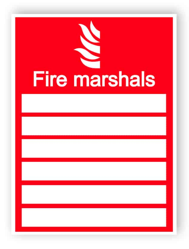 Fire marshals sign