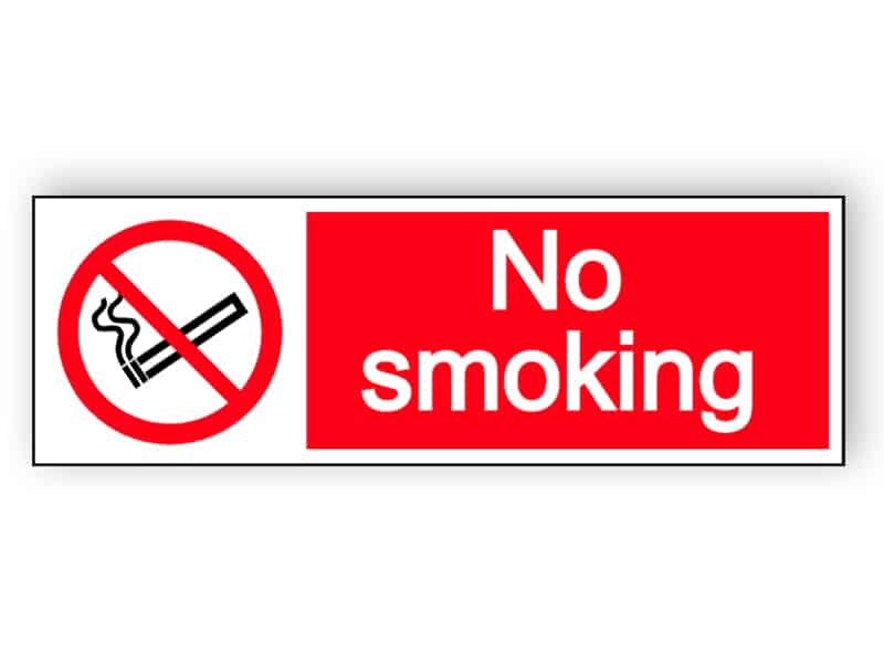 No smoking- landscape sign