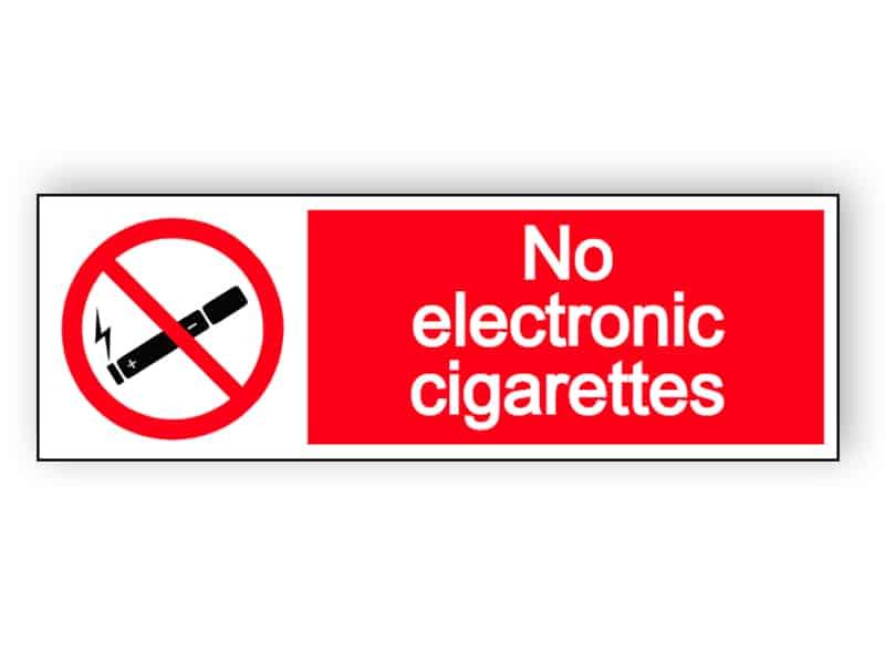 No electronic cigarettes - landscape sign