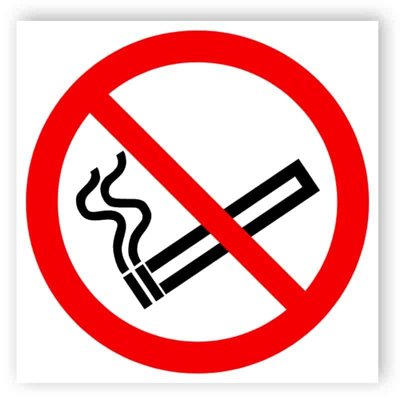 No smoking - sticker