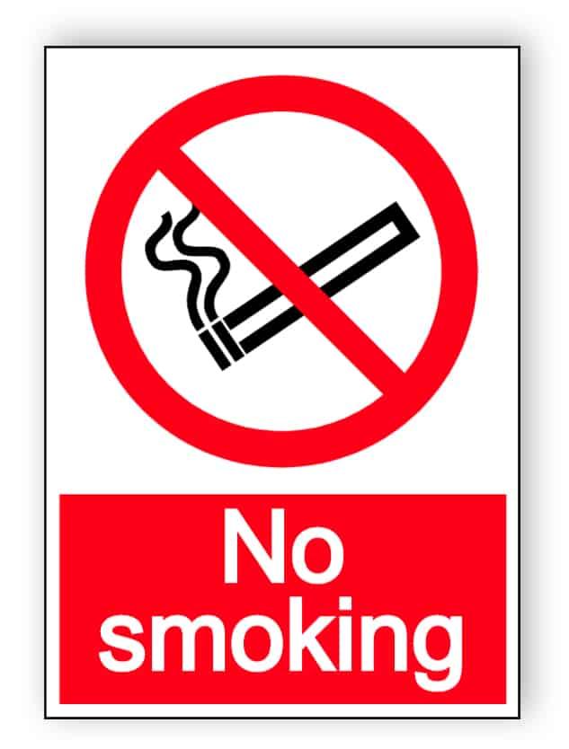 No smoking - portrait sticker