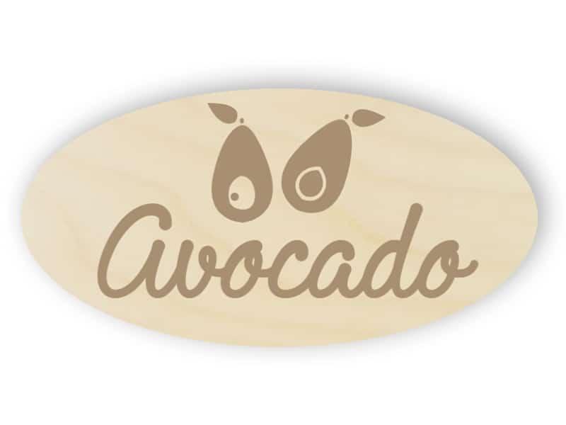 Wooden avocado sign
