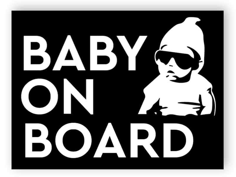 Cool baby on board - black sticker